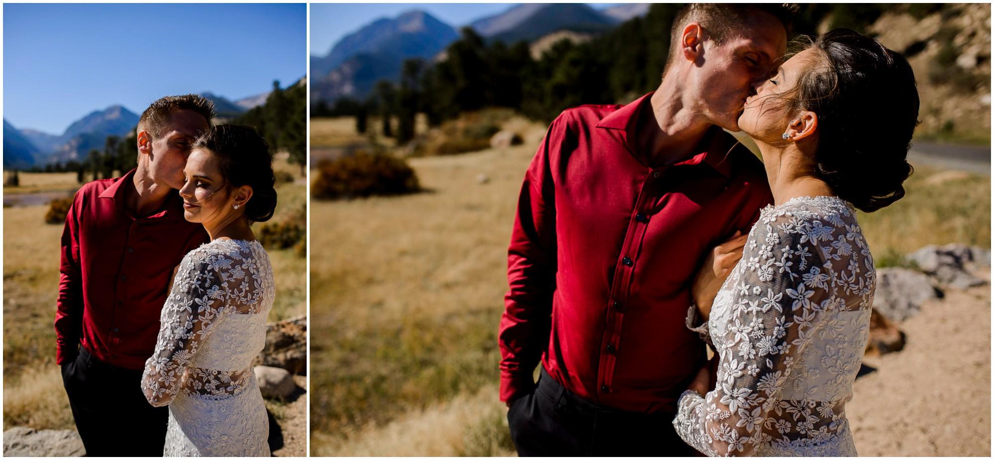 Estes Park elopement photos