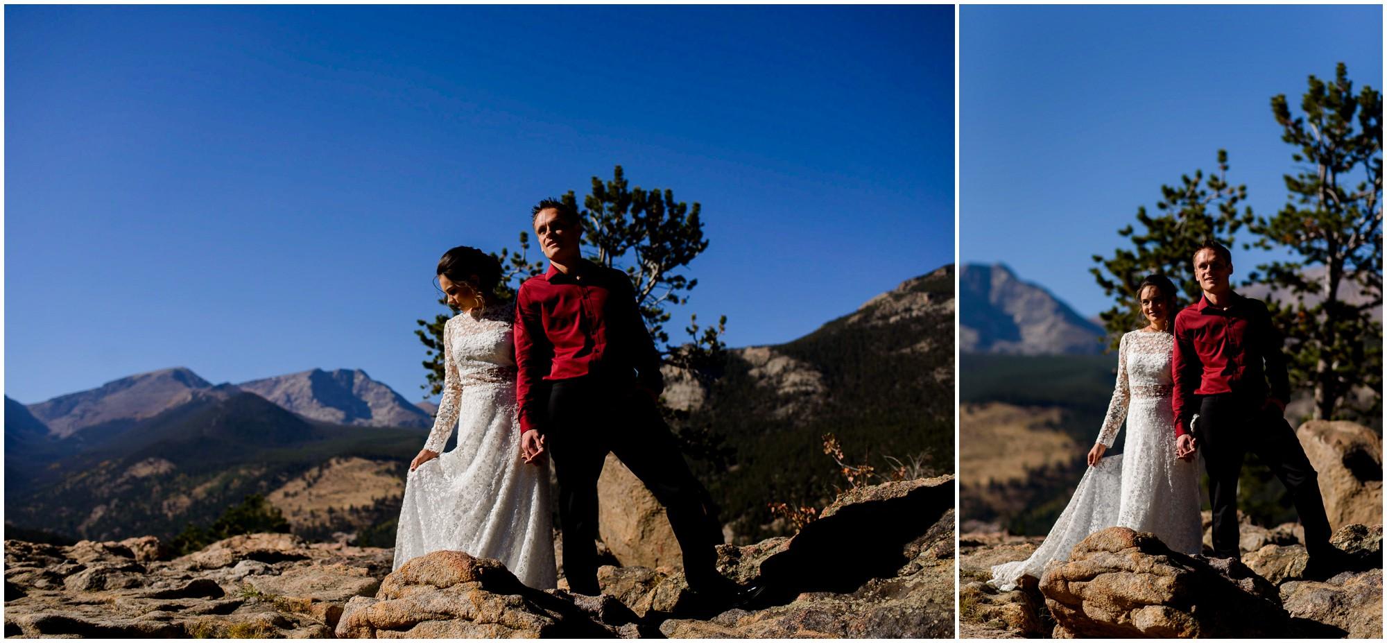 Colorado mountain elopement photos