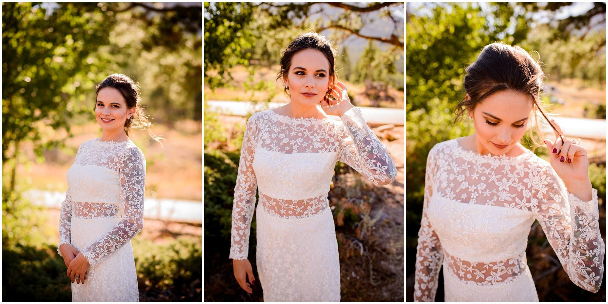 Colorado fall bride portraits