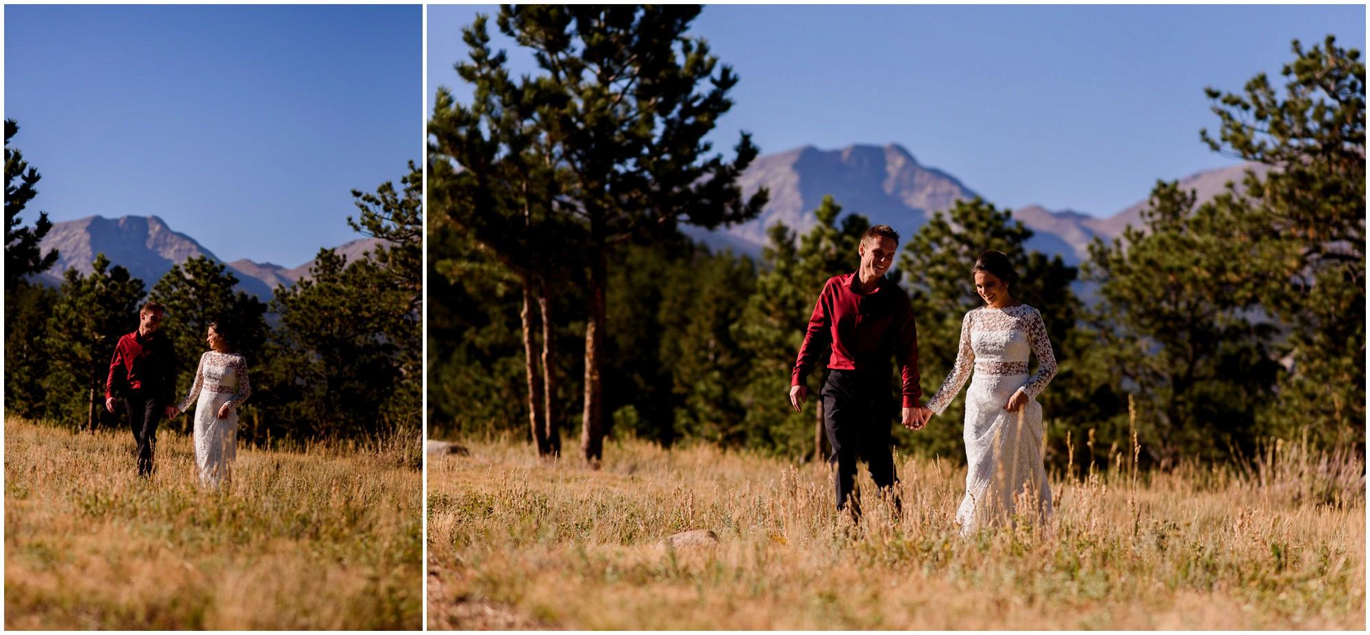 Bride and Groom mountain portraits in Colorado