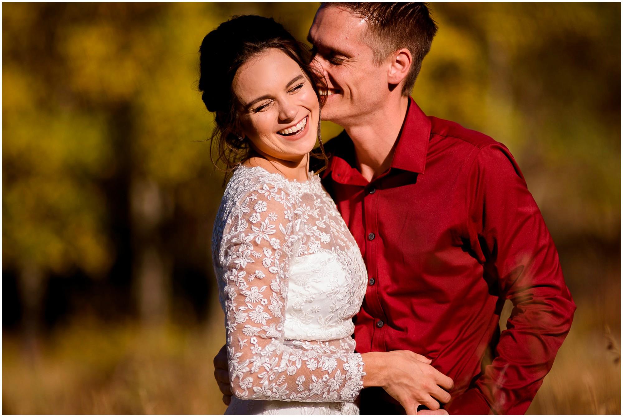Fall wedding portrait in Estes Park
