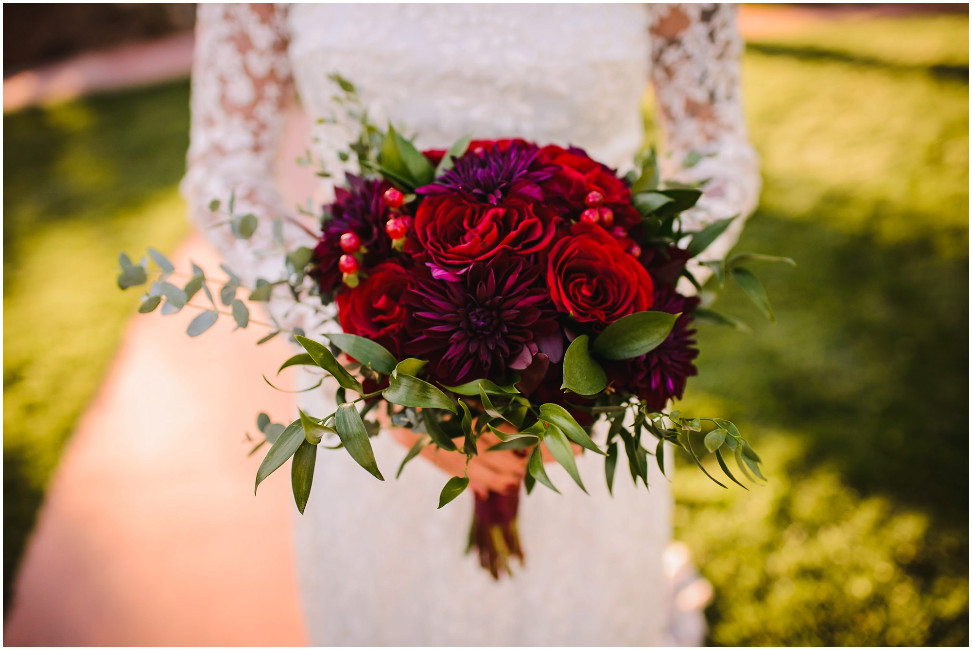 Red Fall Bridal bouquet