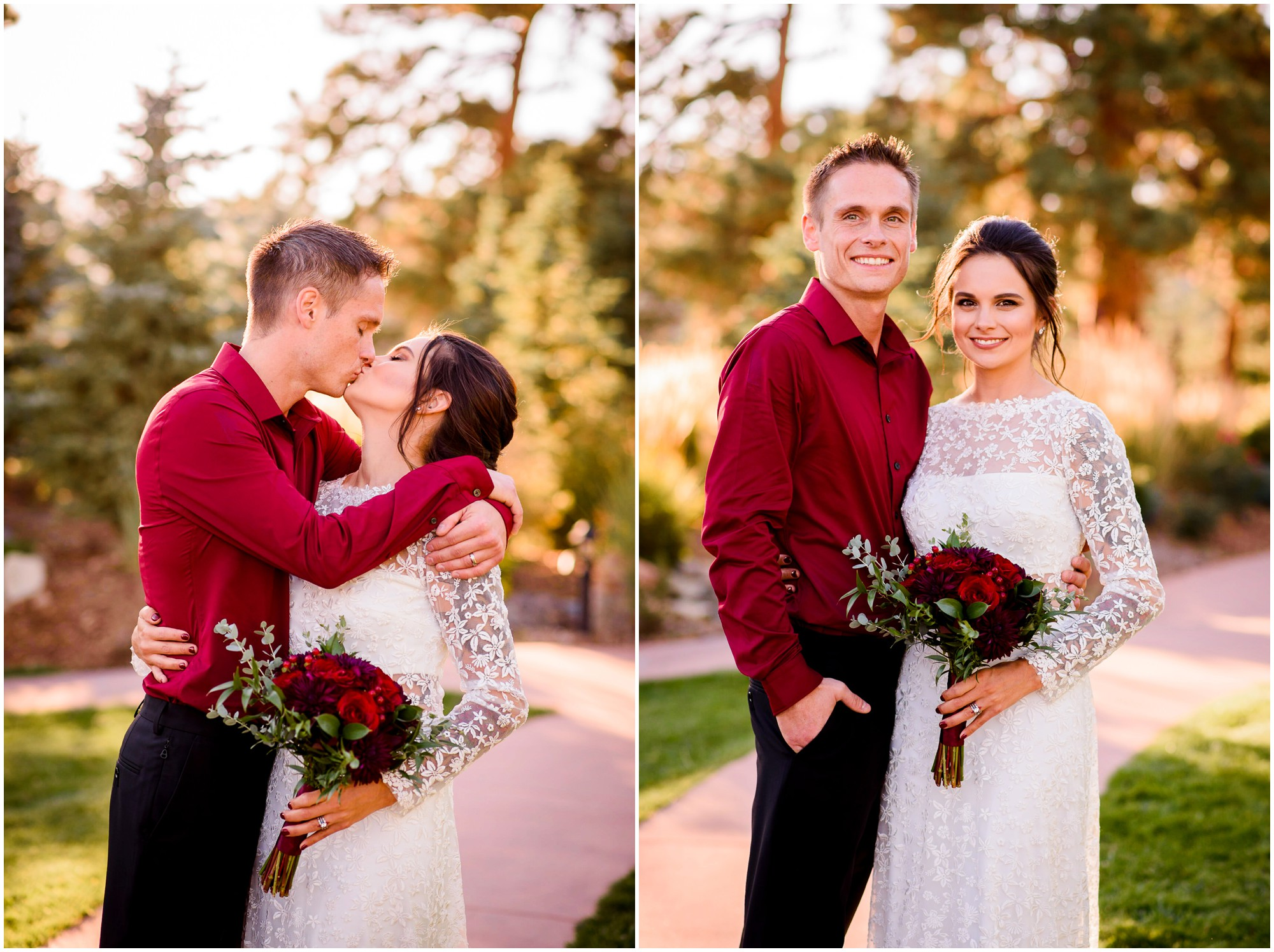 Bride and groom portraits at Stanley hotel