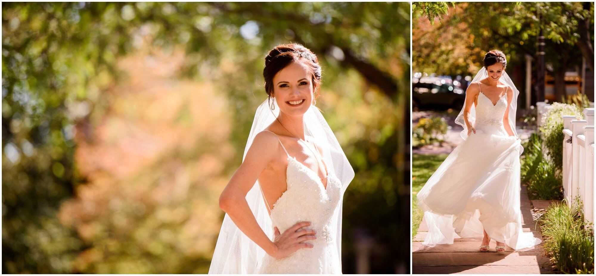 Sunny fall Bridal photos colorado
