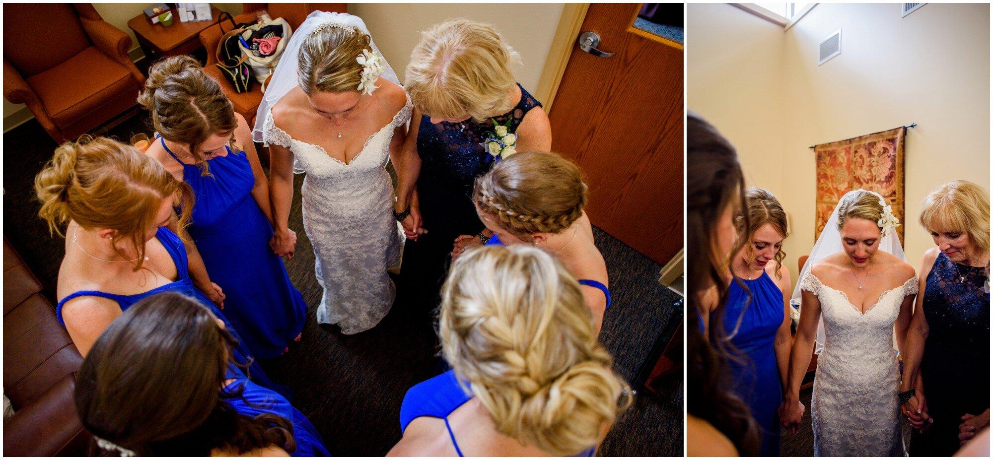 wedding prayer circle photo