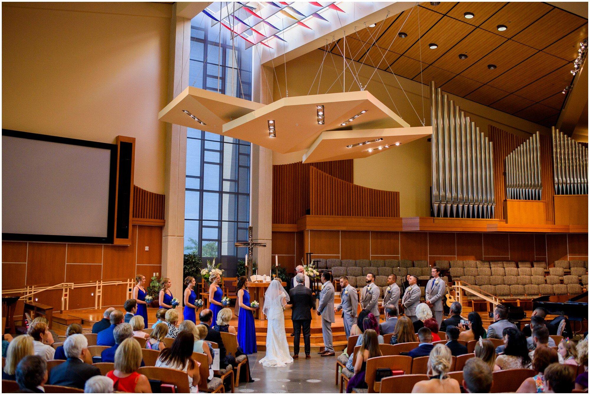 chapel wedding in highlands ranch colorado