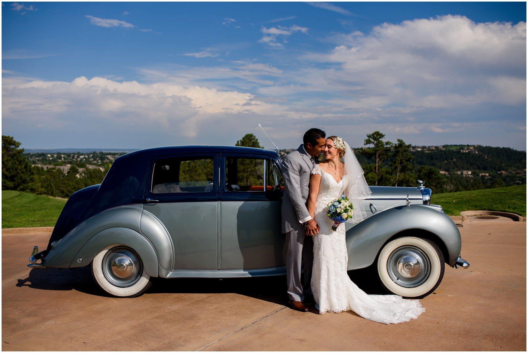 vintage wedding car in denver colorado