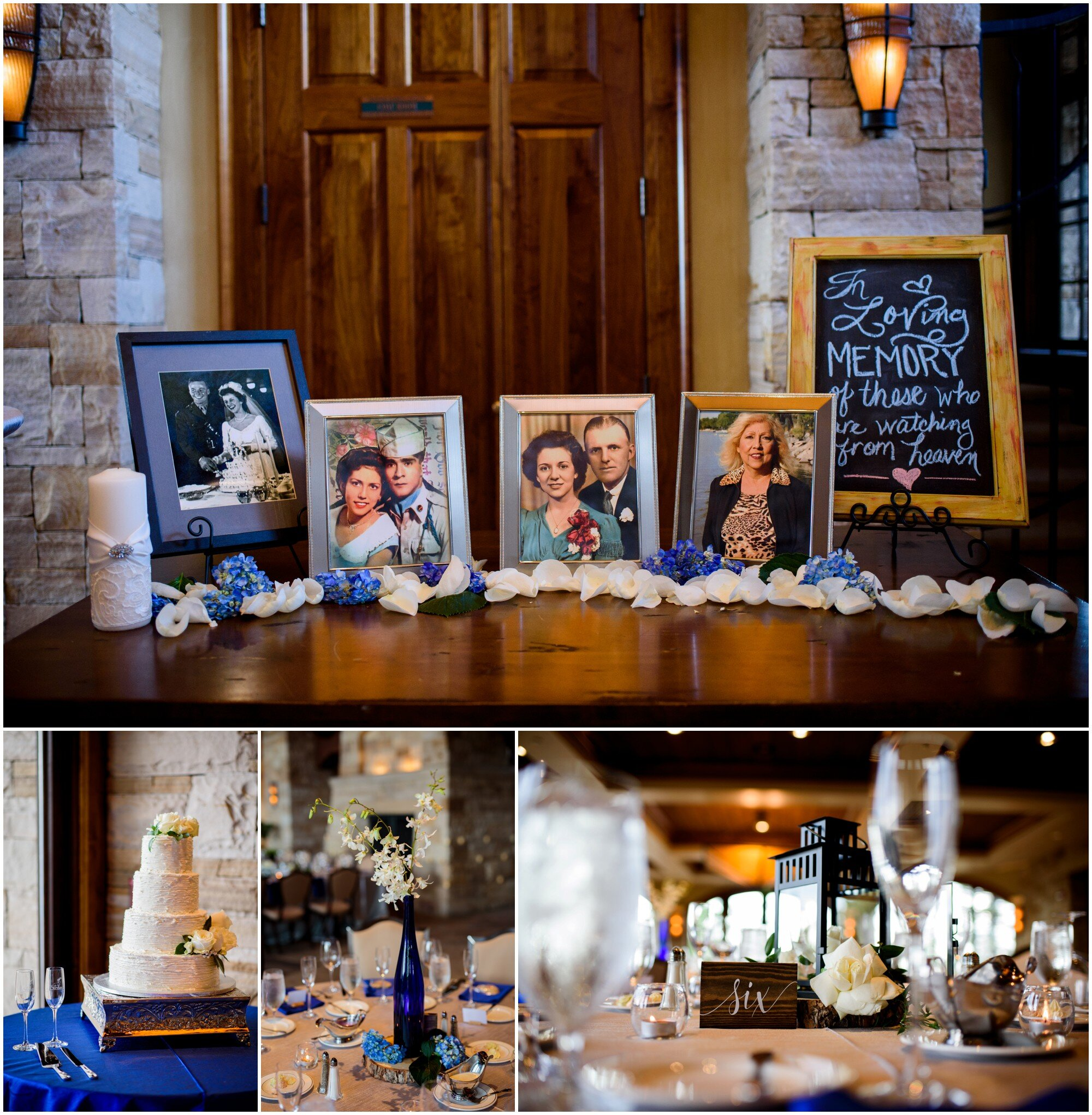 wedding details and in memory table
