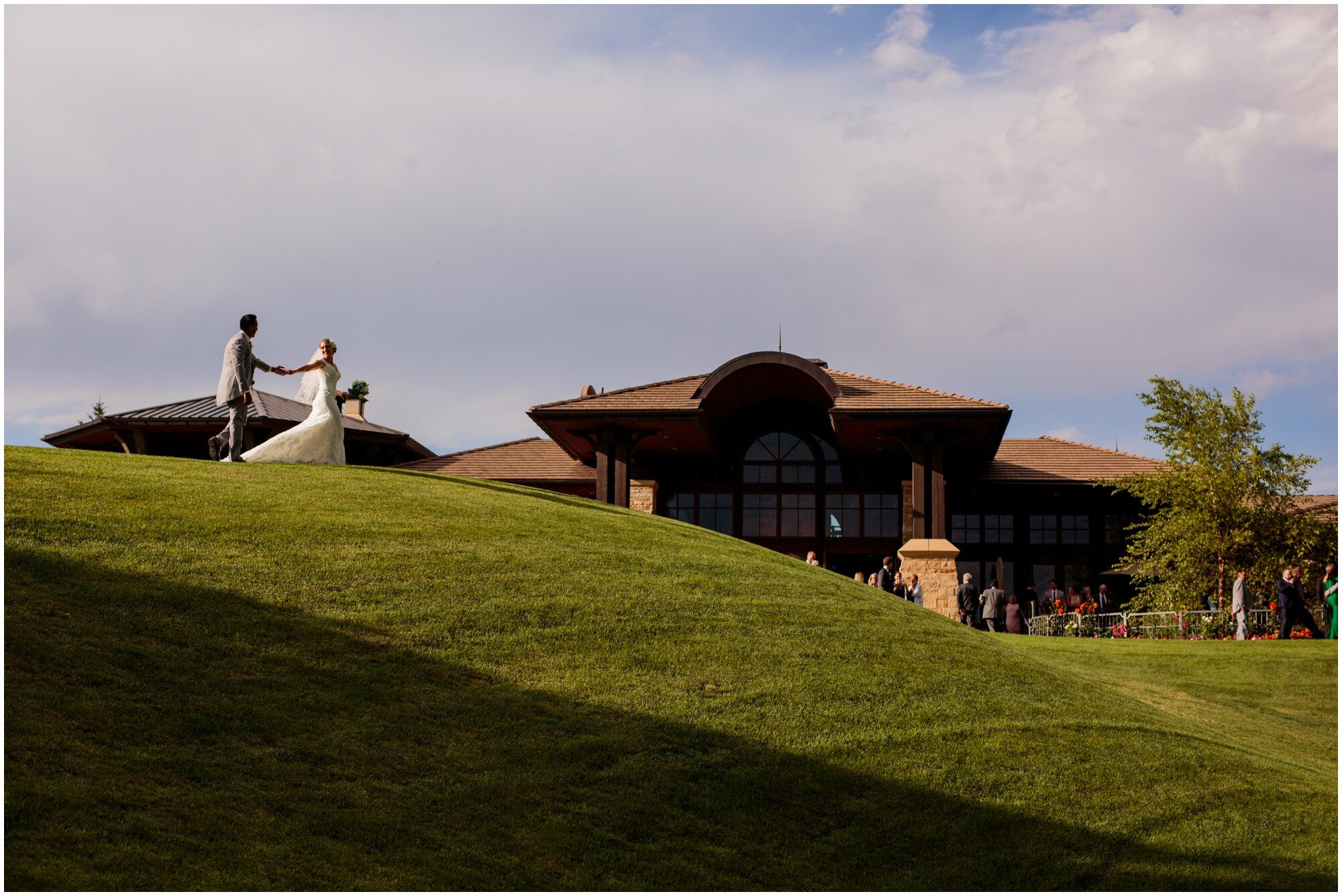 sanctuary golf course bride and groom