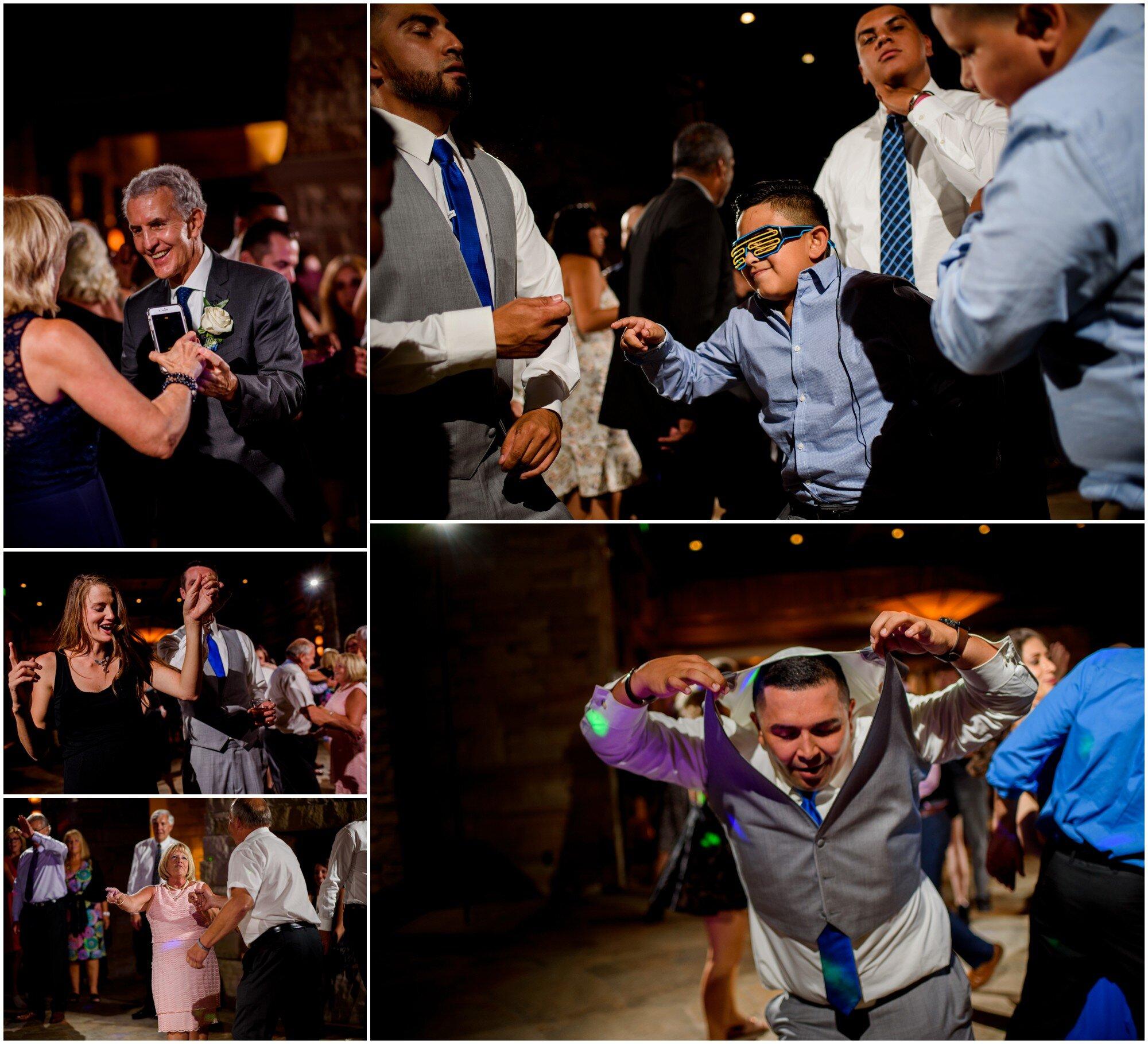 wedding reception dance party at sanctuary golf course