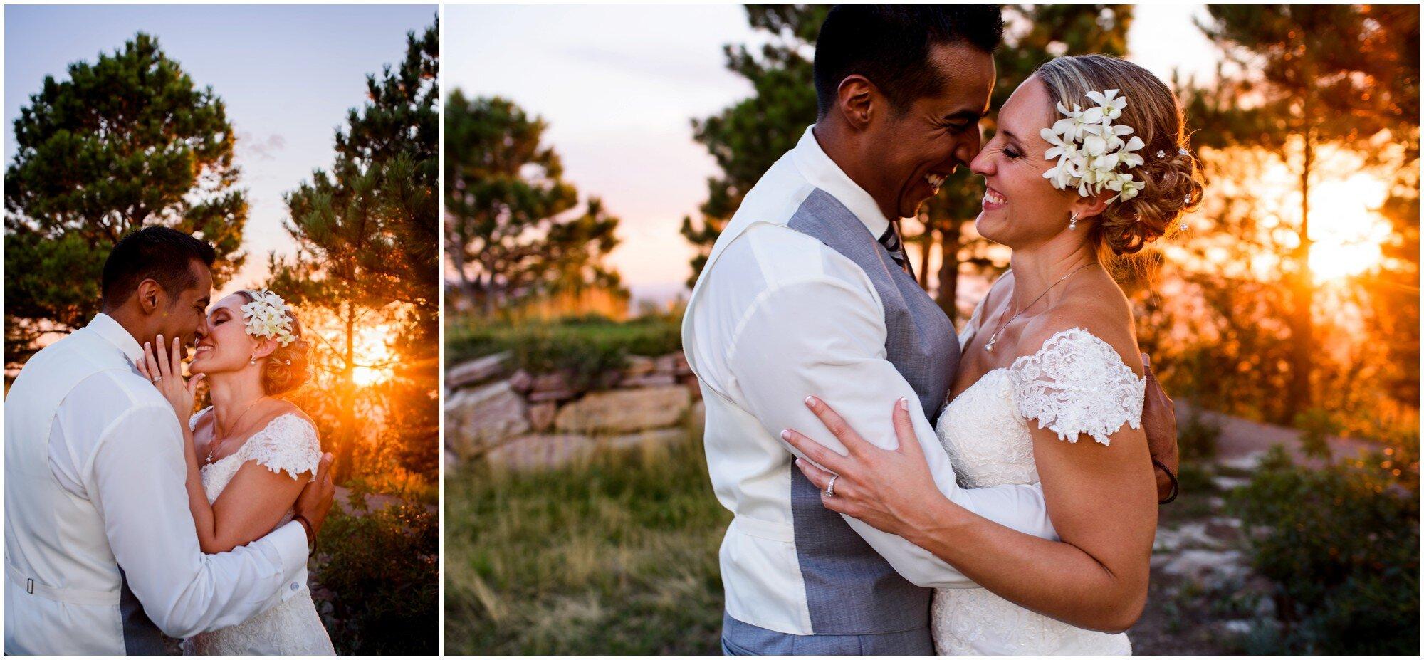 colorado sunset wedding picture