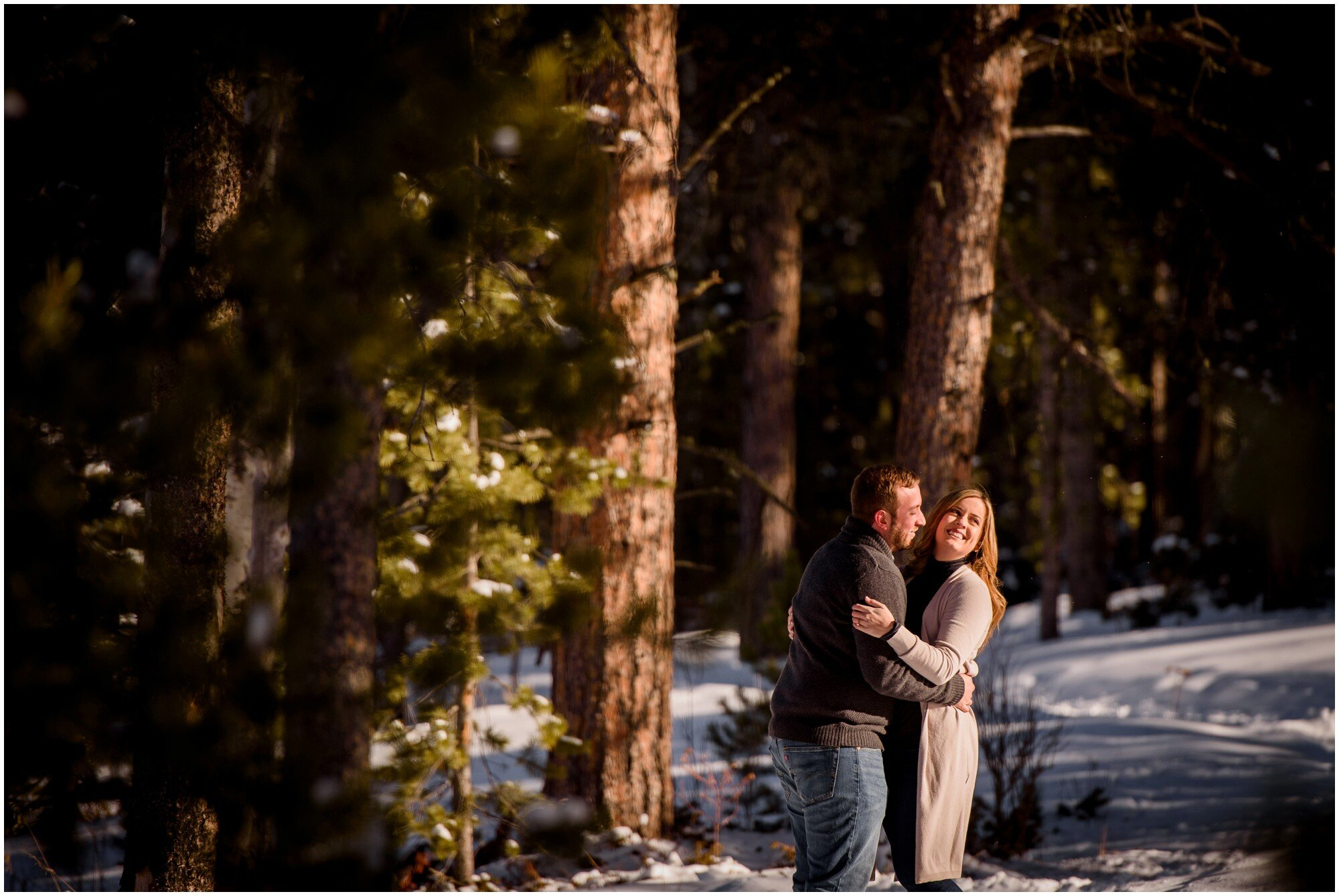 Flying J Ranch Winter Engagement photo