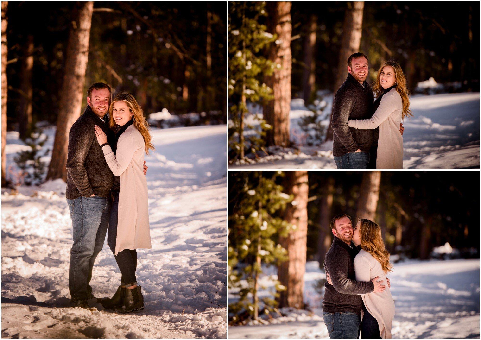 Evergreen colorado engagement photos