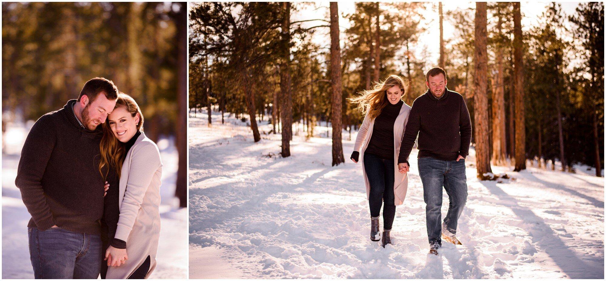 Conifer Colorado engagement photo