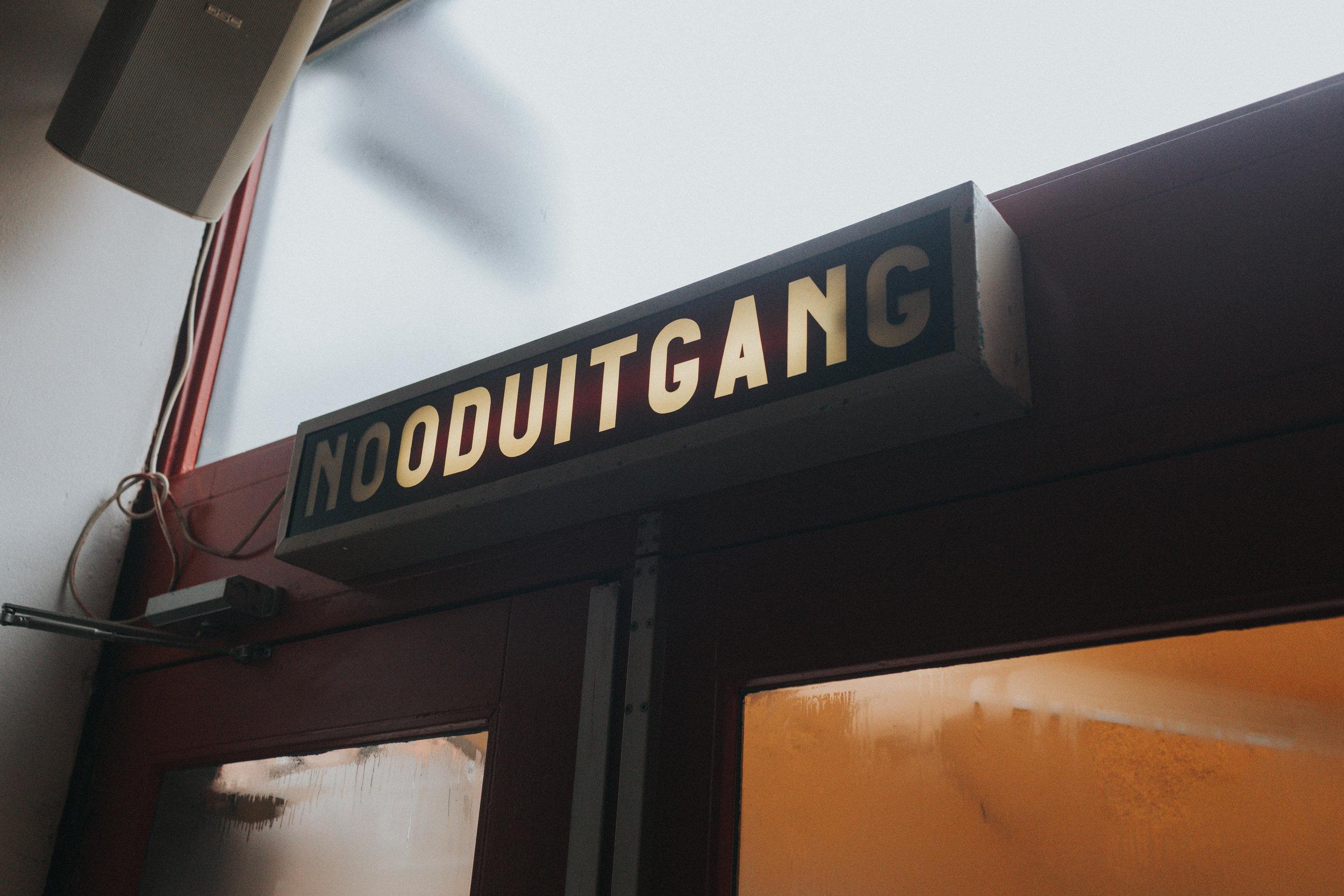 nooduitgang / emergency exit