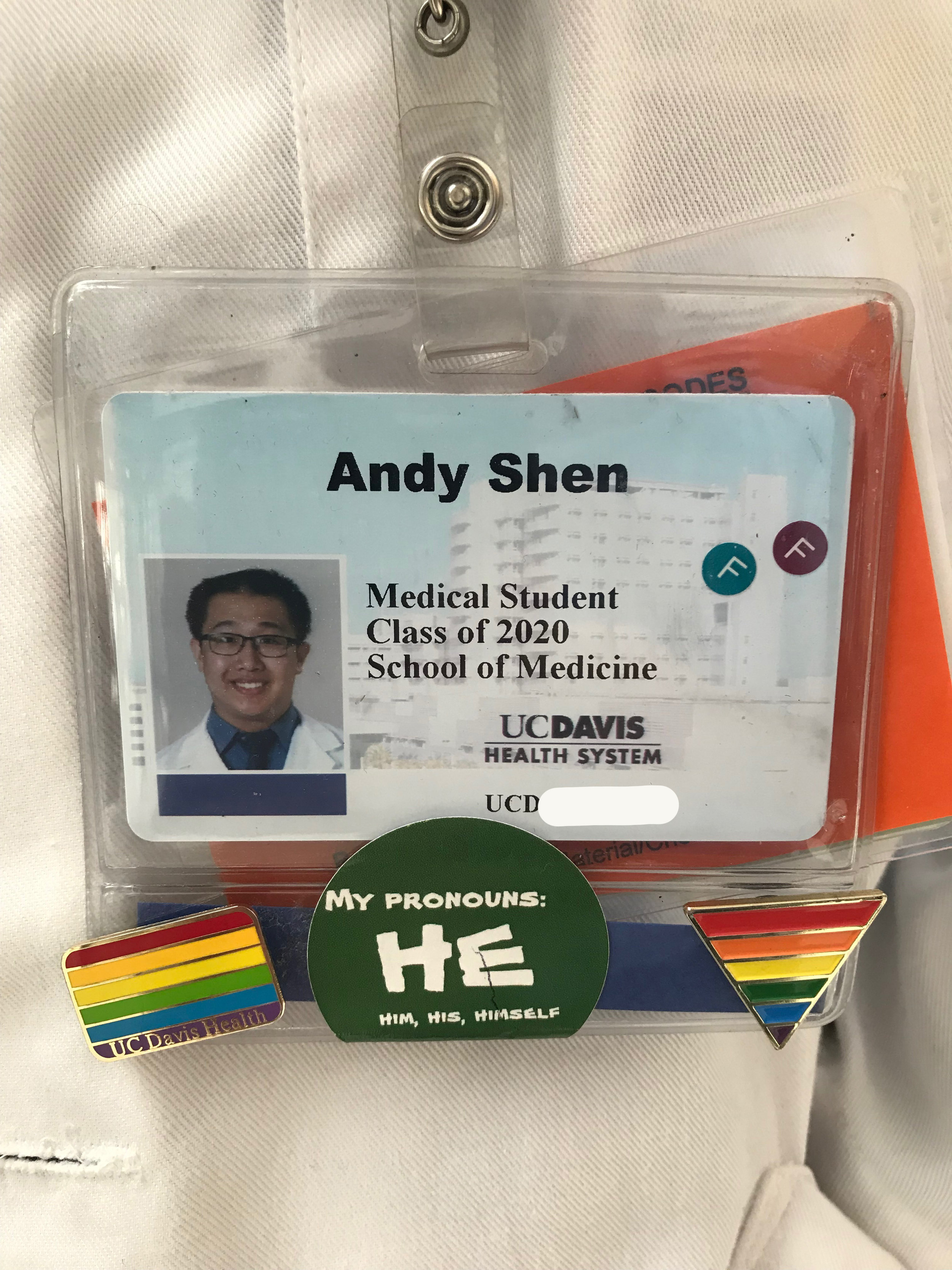 ghmc alum Andy Shen now studies medicine at UC Davis, and volunteers at the student run free clincs in sacramento