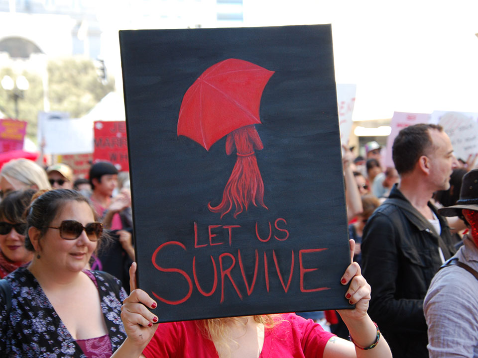 HPS attended a PRotest in oakland this JUne to oppose fosta/sesta, recent federal legislation that endangers sex workers (Photo:Scott Morris/Hoodline)