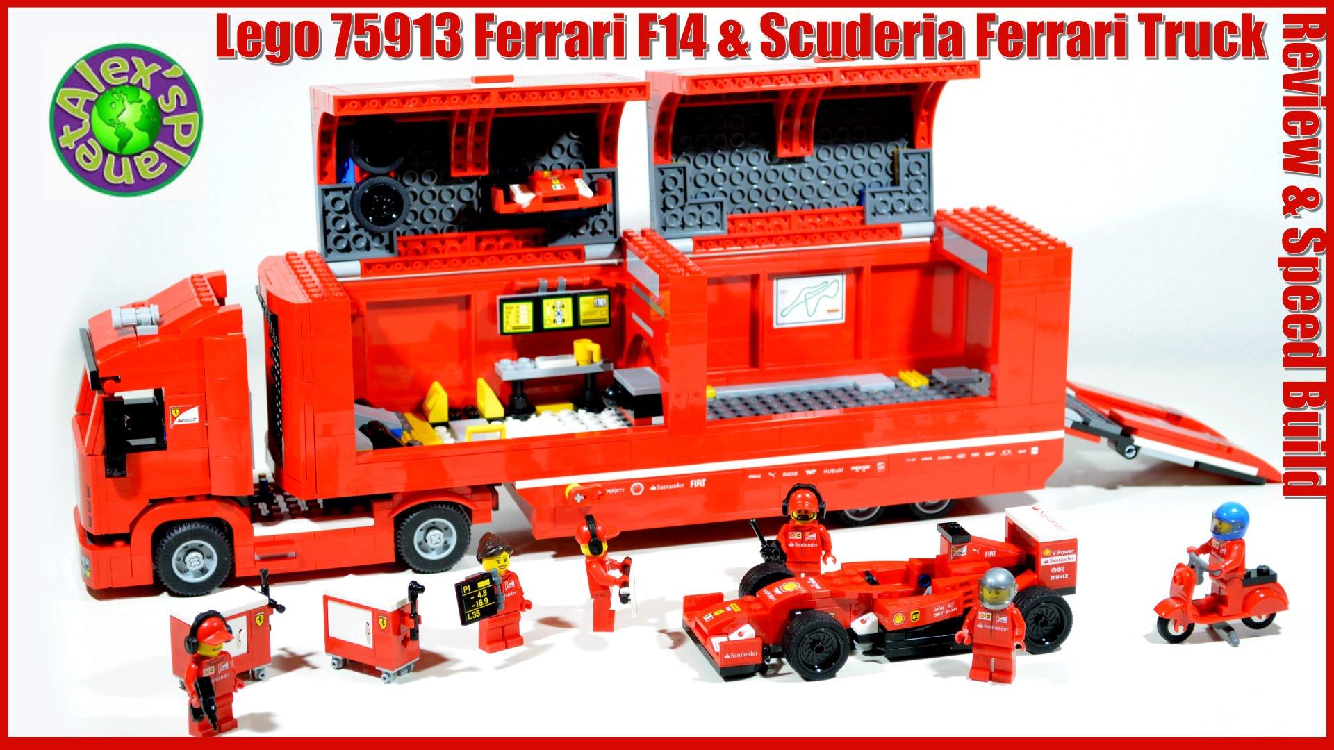 Lego Speed Champions 75913 Ferrari F14 & Scuderia Ferrari Truck Review & Speed Build, Unboxing