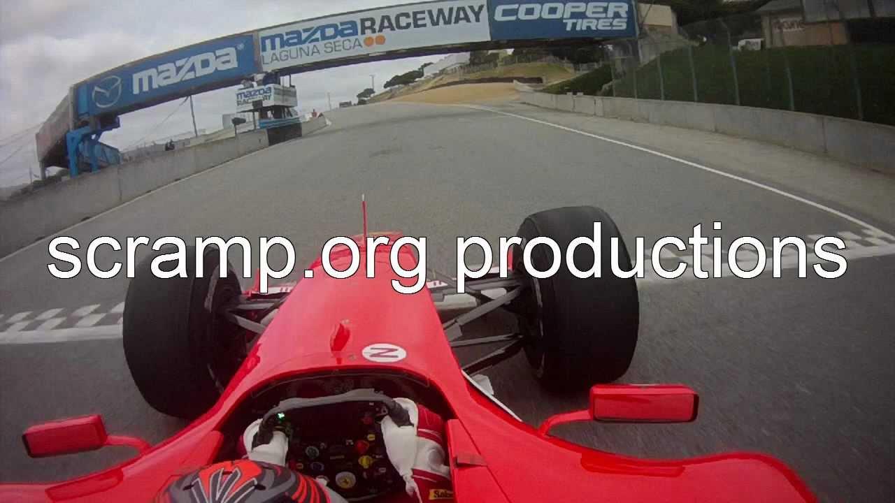 On-Board Schumacher's F1 Laps Mazda Raceway Laguna Seca Ferrari Racing Days 2011 in 720HD