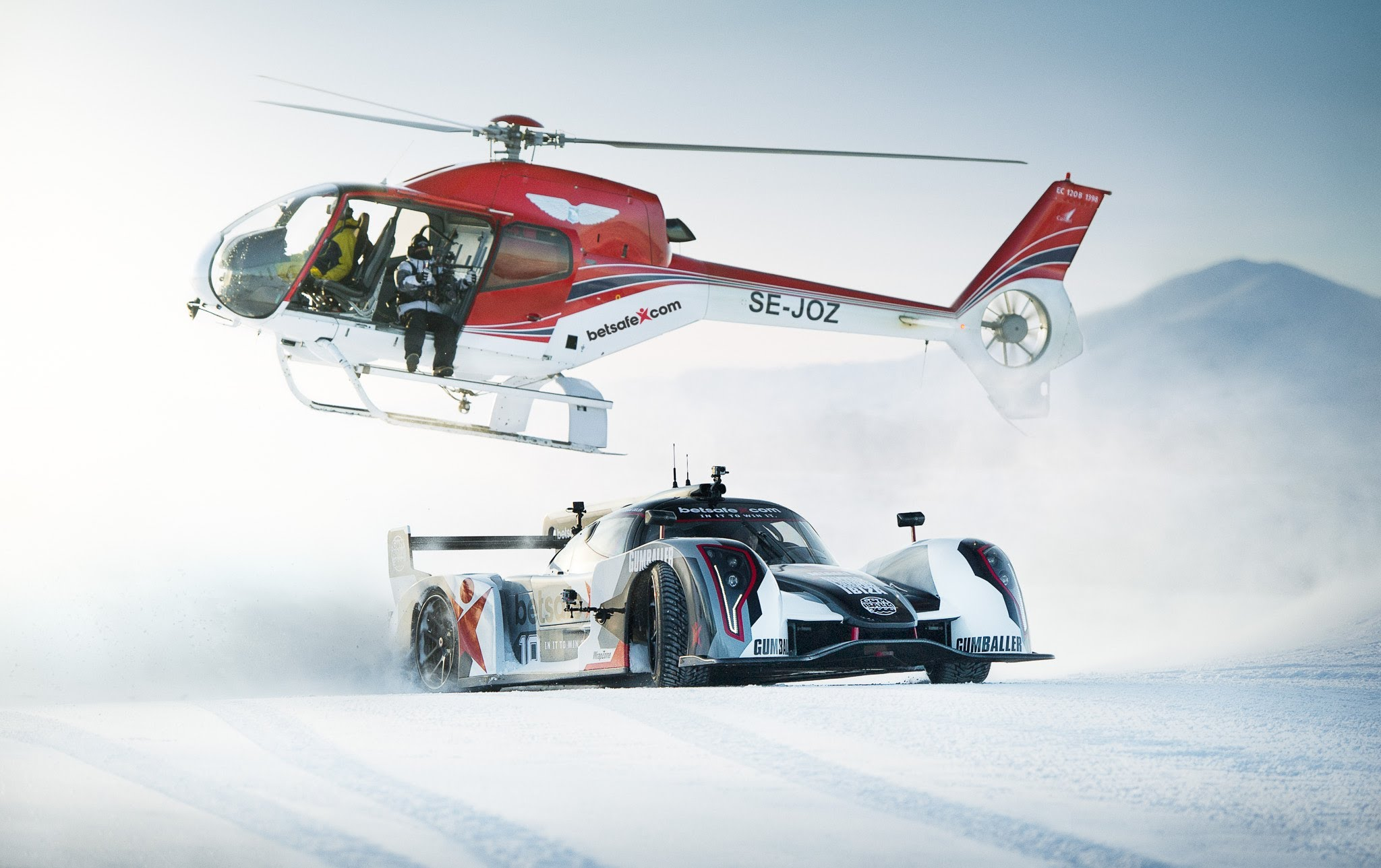 Supercar Drifting Uphill in Snow - Jon Olsson's Rebellion R2K