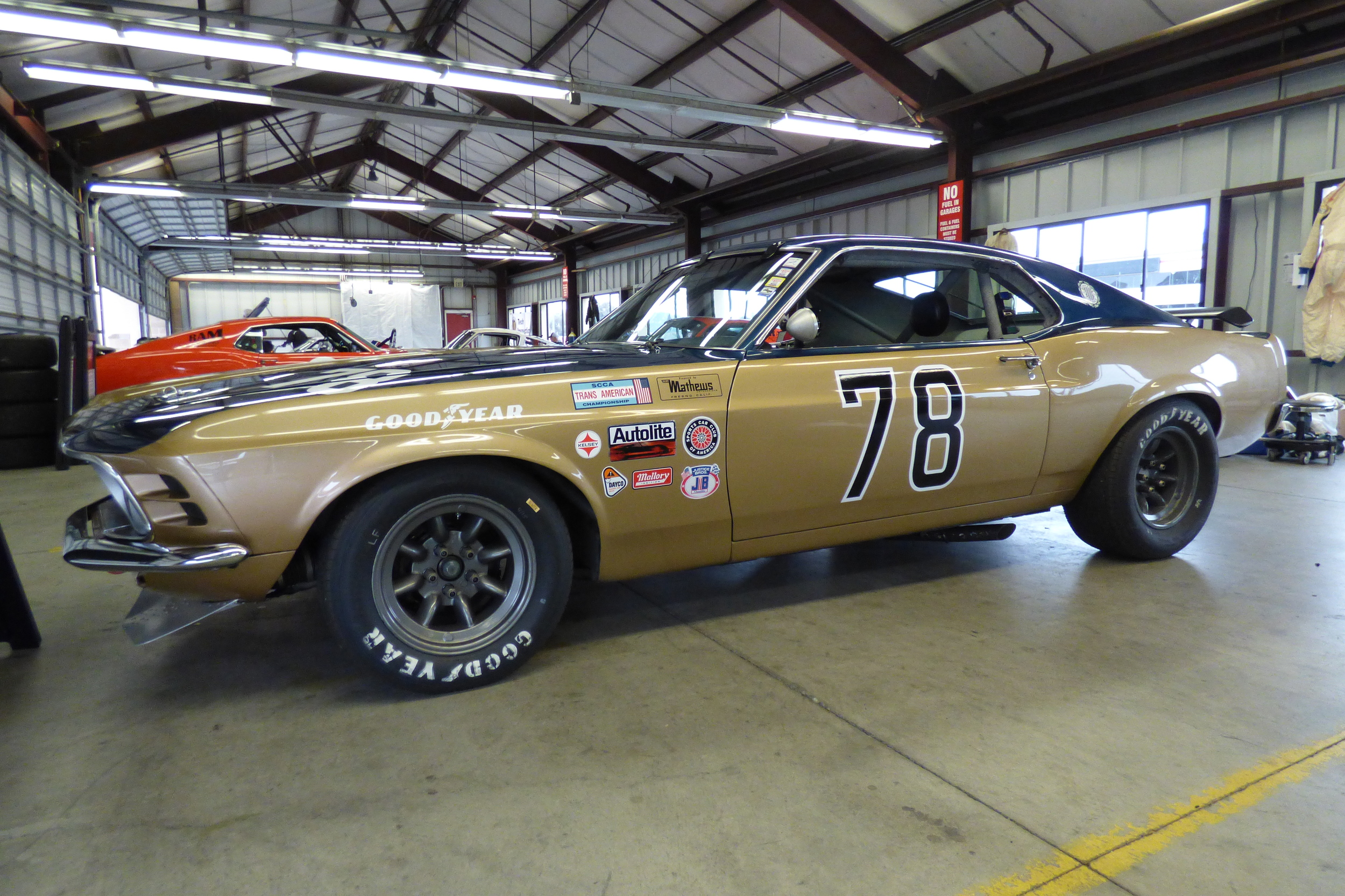 The 1970 Mustang Boss 302 of Michael Martin. Just one of the many competitors in Group 10.