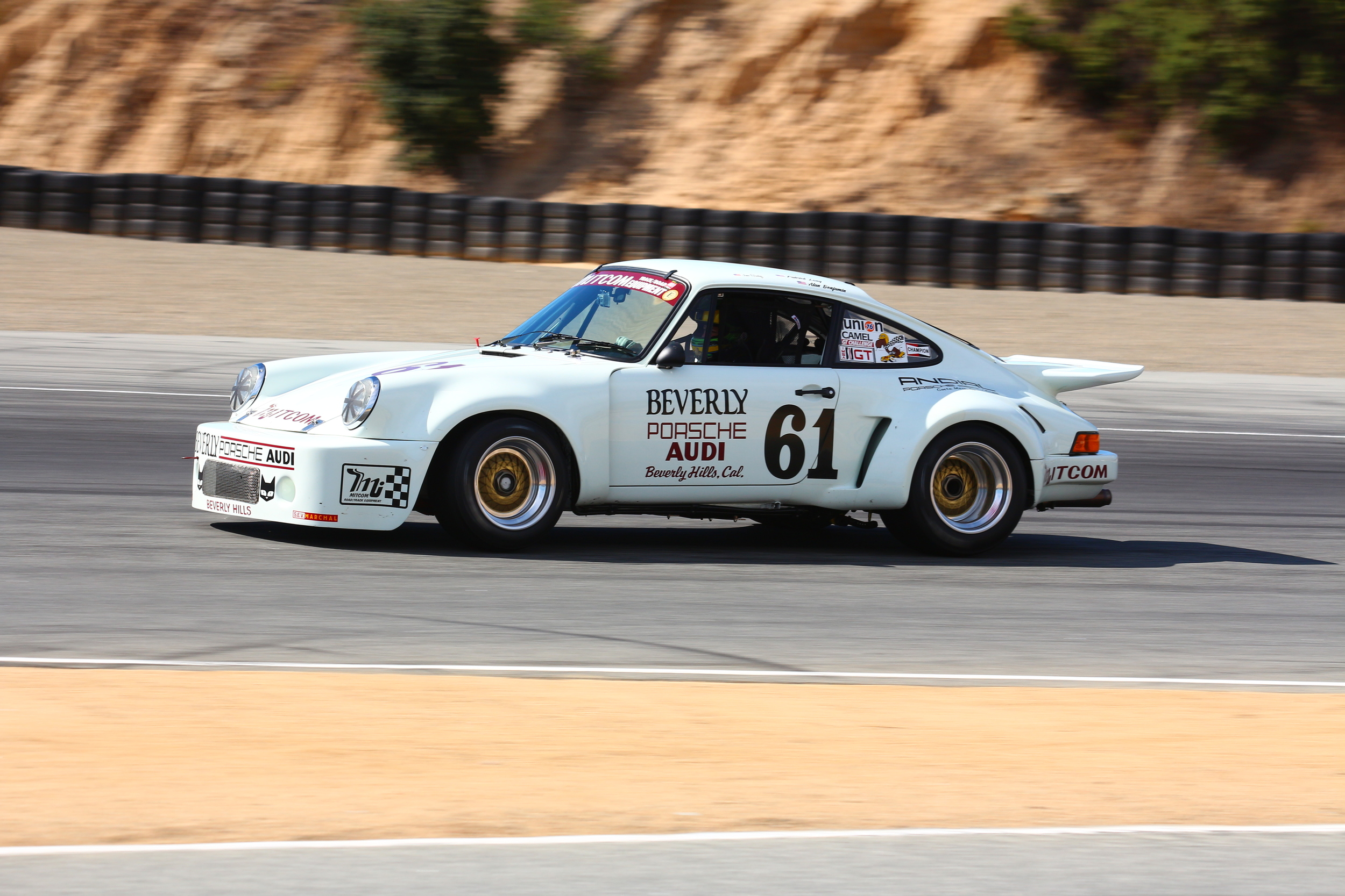 Patrick Long guides the '75 Porsche RSR into the Andretti Hairpin.