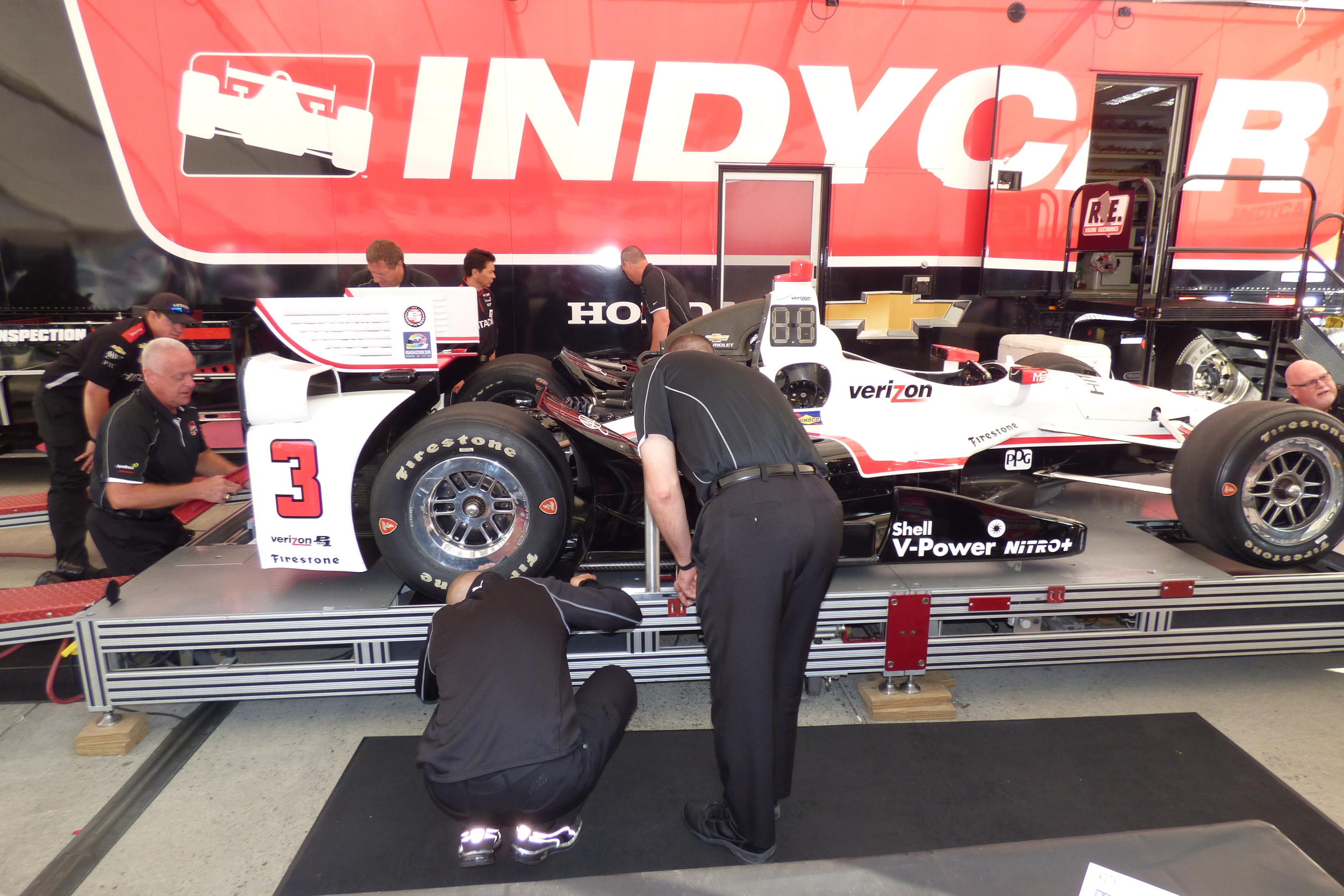 The domain of the IndyCar scrutineers...an exercise in tolerance...