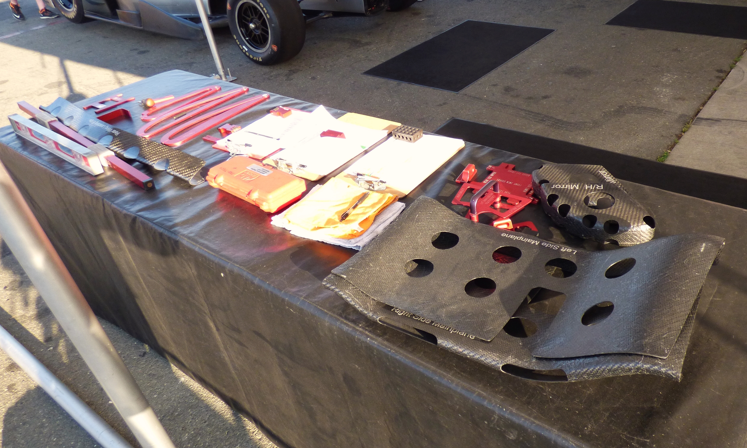 The tools of the trade for the scrutineers.