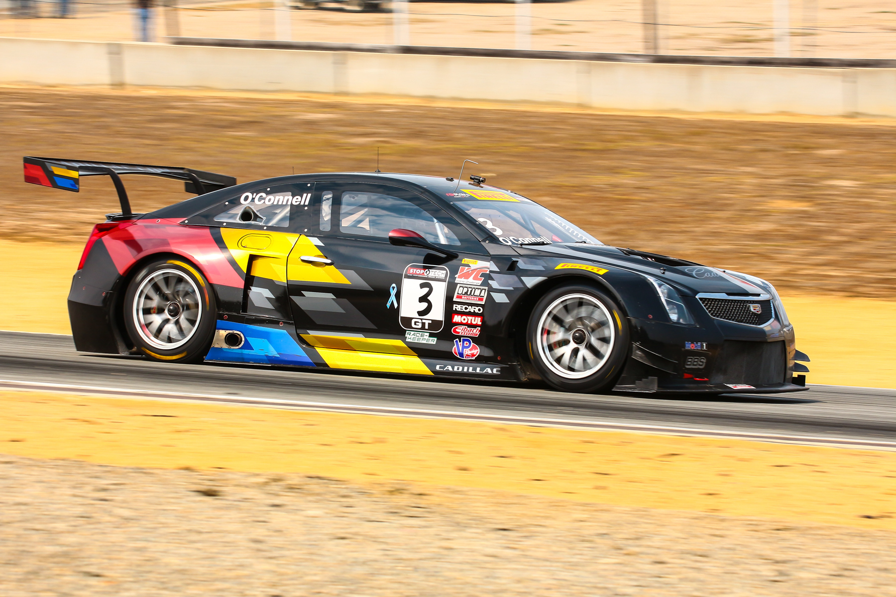 Cadillac driven by Johnny O'Connell, four time Pirelli World Challenge champion.