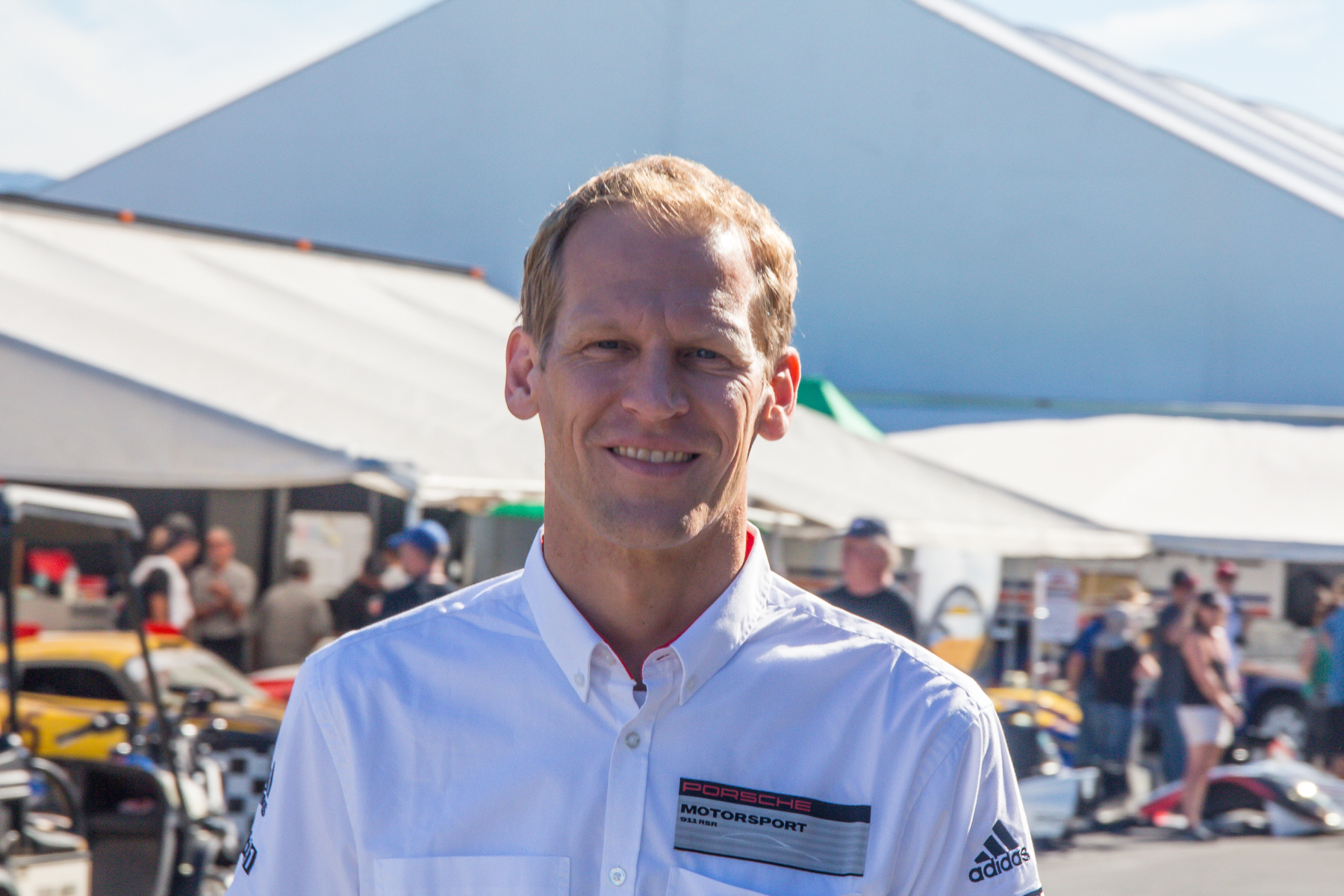 Porsche factory driver Joerg Bergmeister and one of the nicest guys in the world unless you're in his way on track.