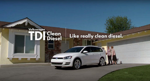 Image from a former television ad from Volkswagen. This ad and others are now under investigation by the FTC.
