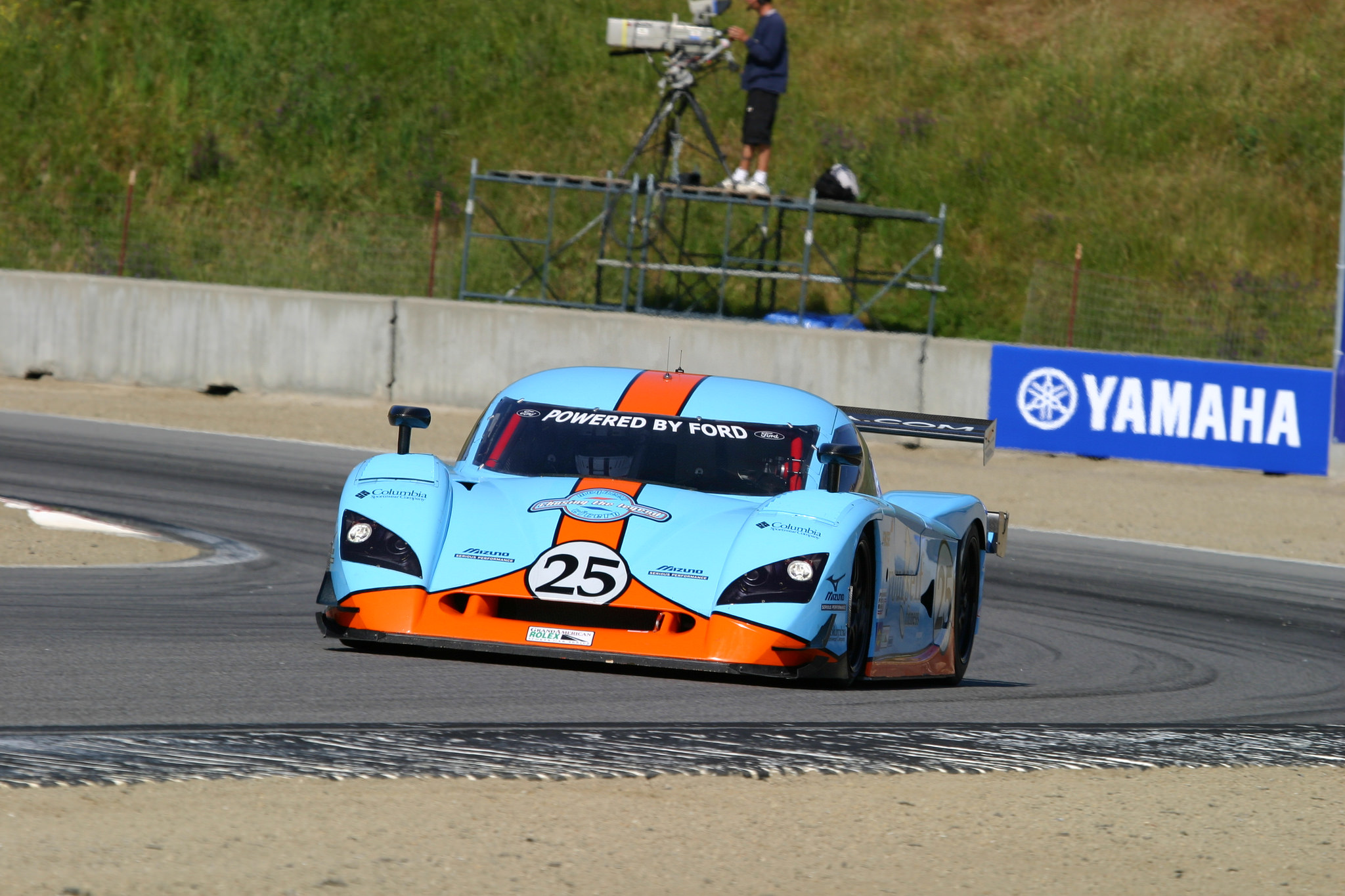 Chad McQueen on track in the Ford Crawford DP03.