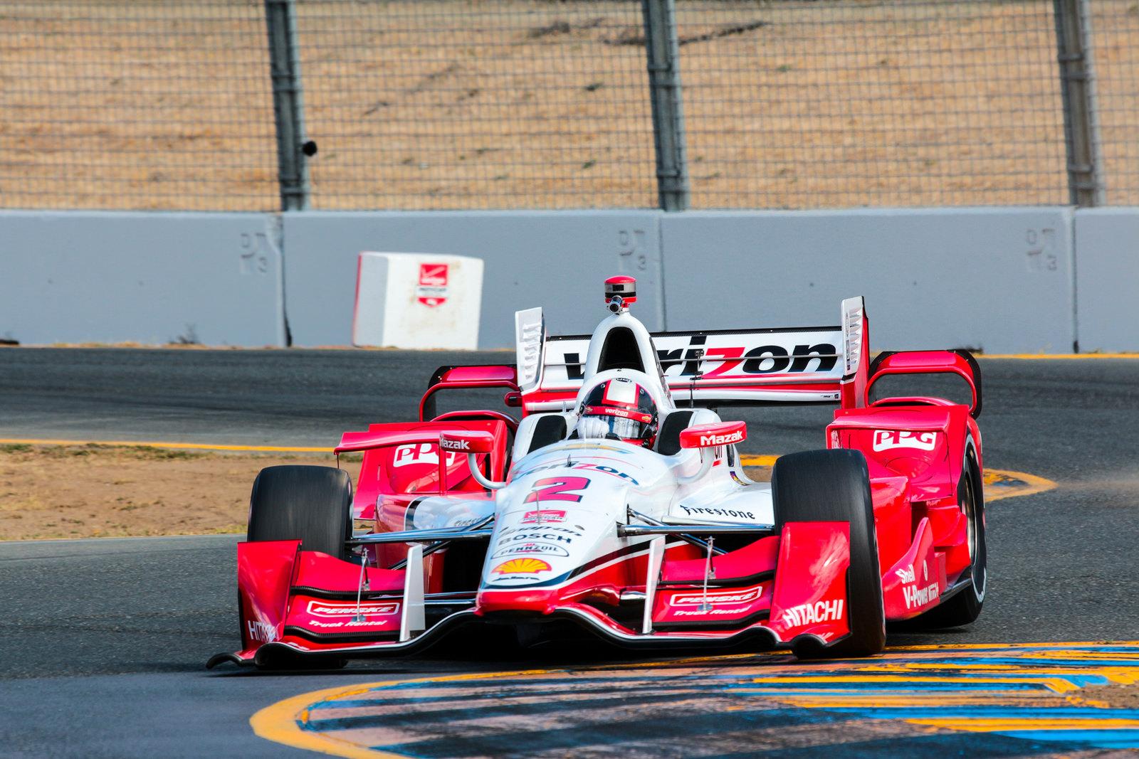 Penske IndyCar #2. Driver: Juan Pablo Montoya.  ©2015 Mark Farouk