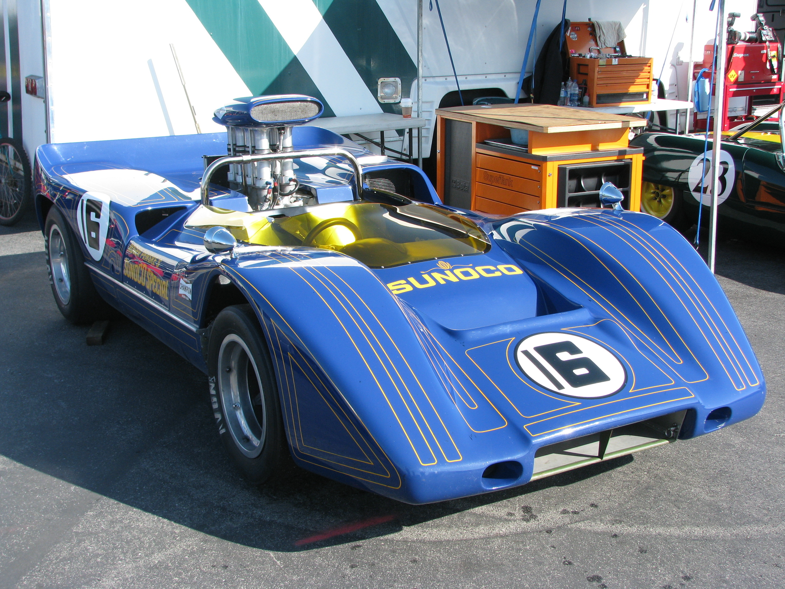 Can-Am in all it's pin-stripped glory!  The Sunoco Special