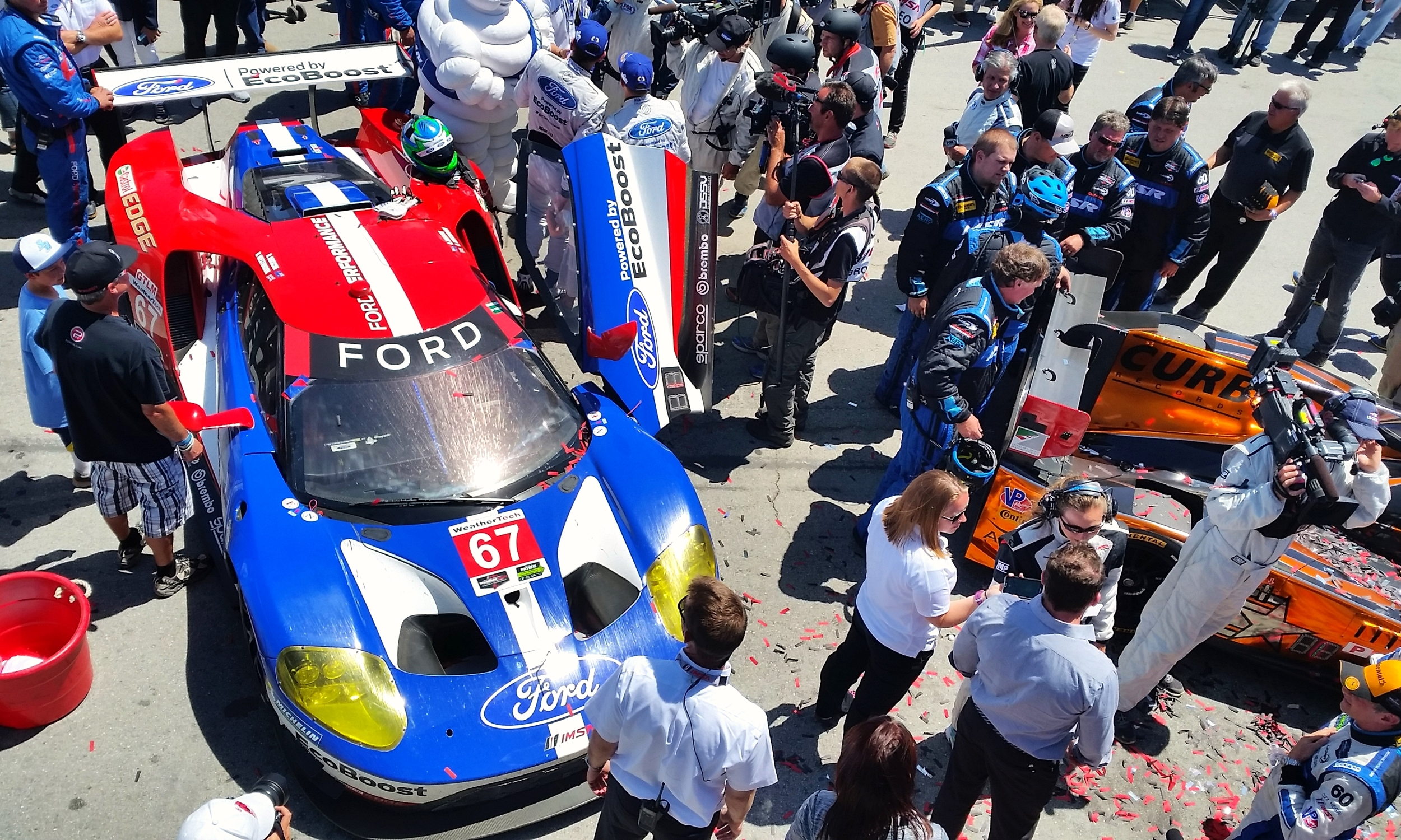 The GTLM class winning Ford Chip Ganassi Racing, Ford GT of Ryan Briscoe and Richard Westbrook..