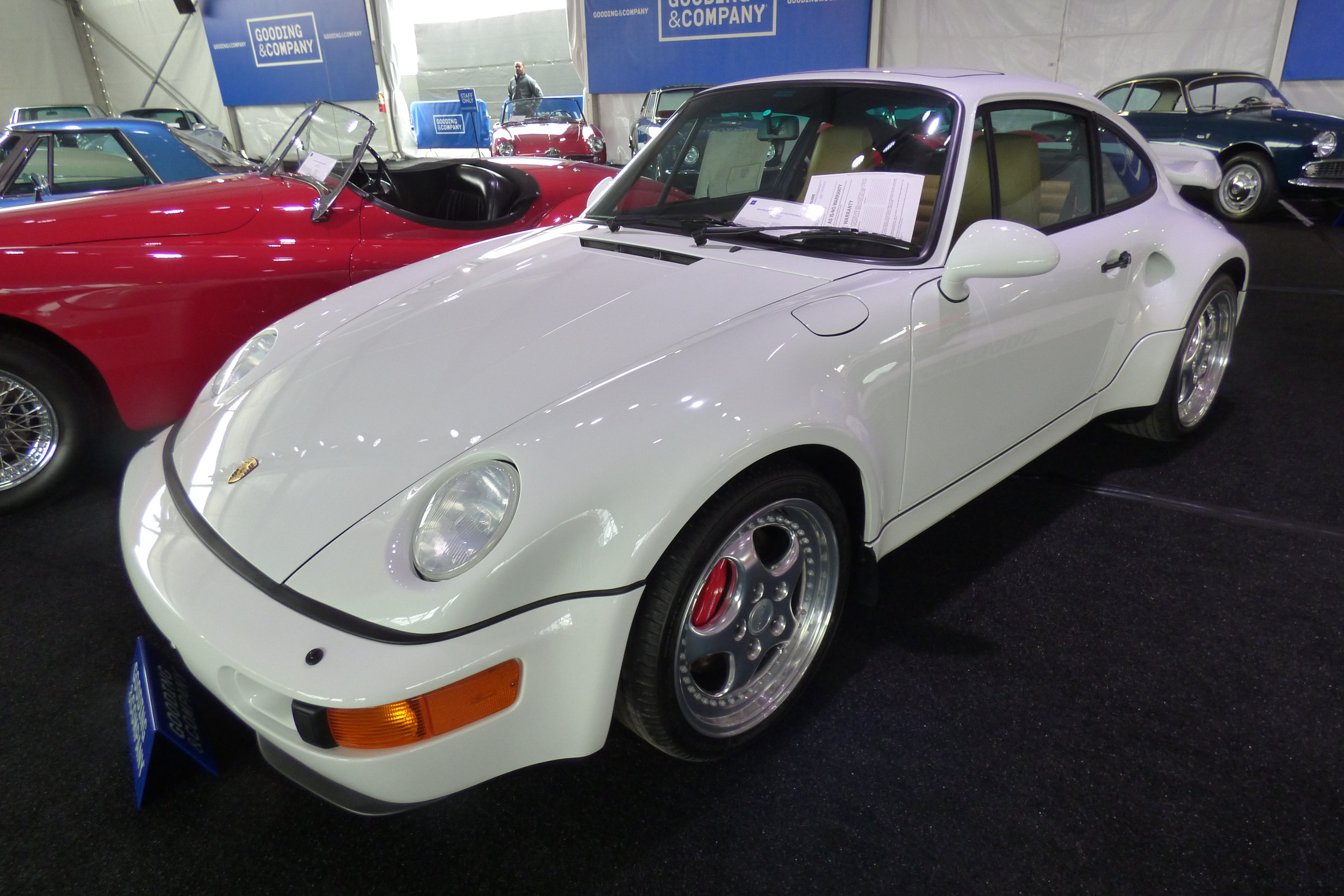 """The fabled """"Time-Capsule Condition"""" 1994 Porsche 964 Turbo 3.6 S Flachbau. Sold for $1,100,000."""