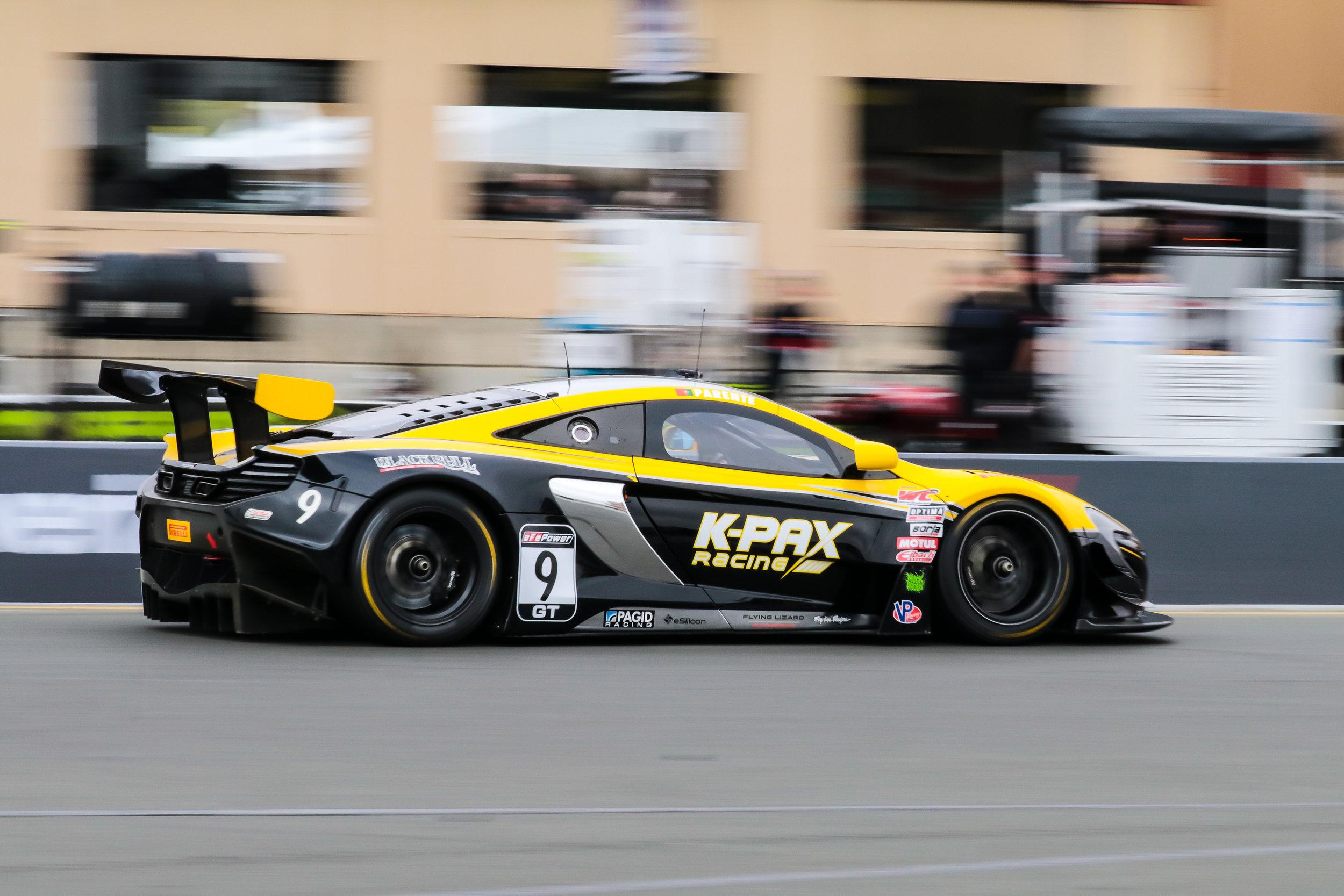 Alvaro Parenta driving the #9 K-Pax Racing McLaren 650s