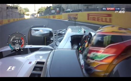 On-board photo clearly shows Hamilton on the brakes a moment before impact.