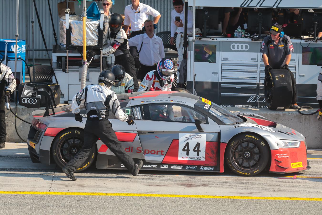 Final Pit Stop for Magnus Audi.