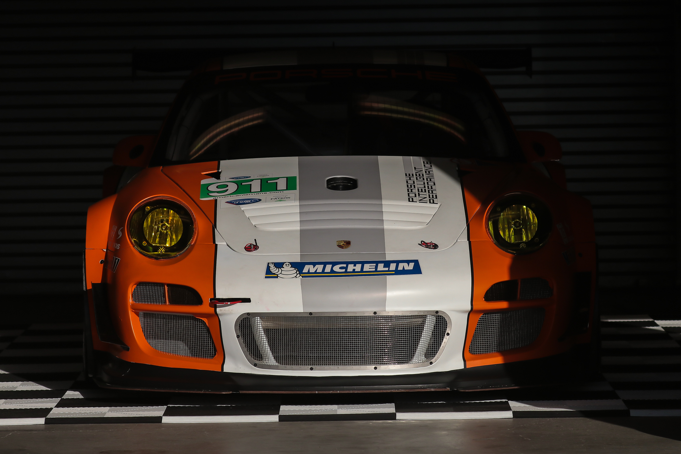 Porsche 911 GT3 R Hybrid 2.0.  It utilizes a Williams Formula One derived flywheel kinetic energy recovery system.