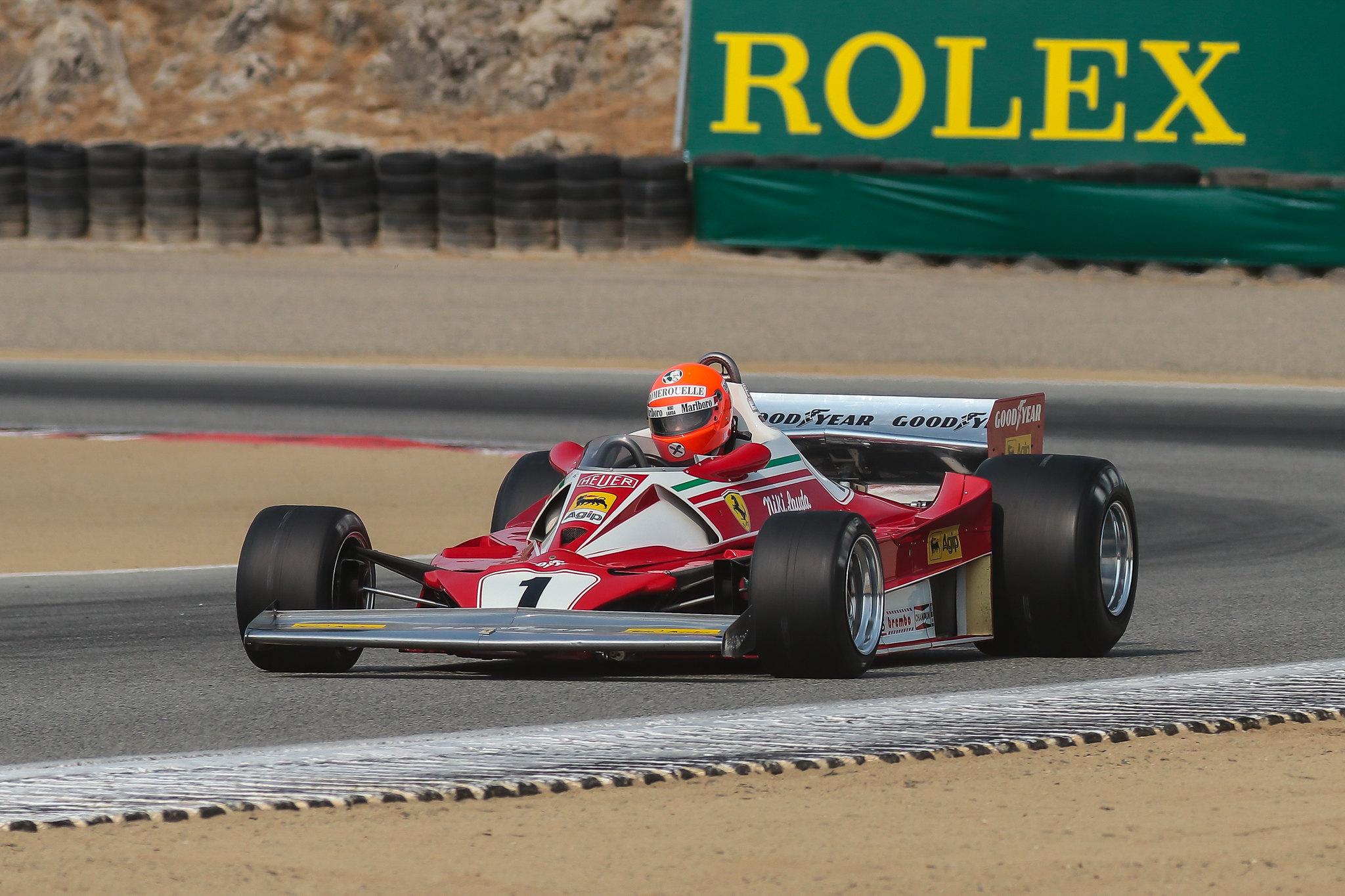 Legendary Cars at the Reunion, including classic Formula 1