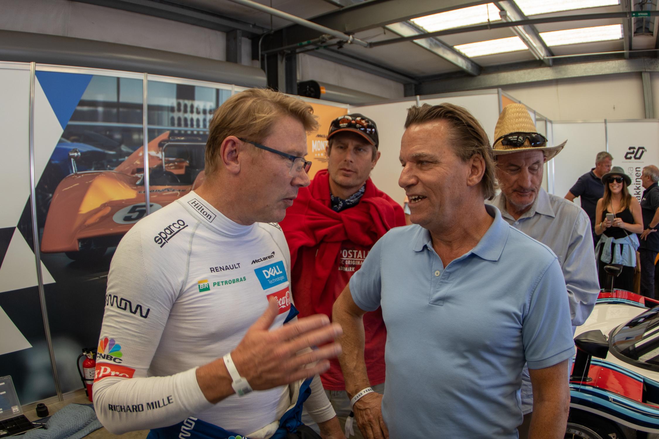 Mika Hakkinen and Stefan Johansson