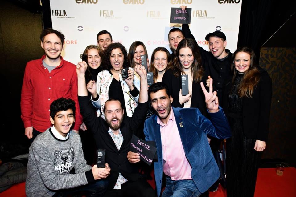 Abu Adnan team at Ekko Shortlist Awards, Bremen Teater,Copenhagen.