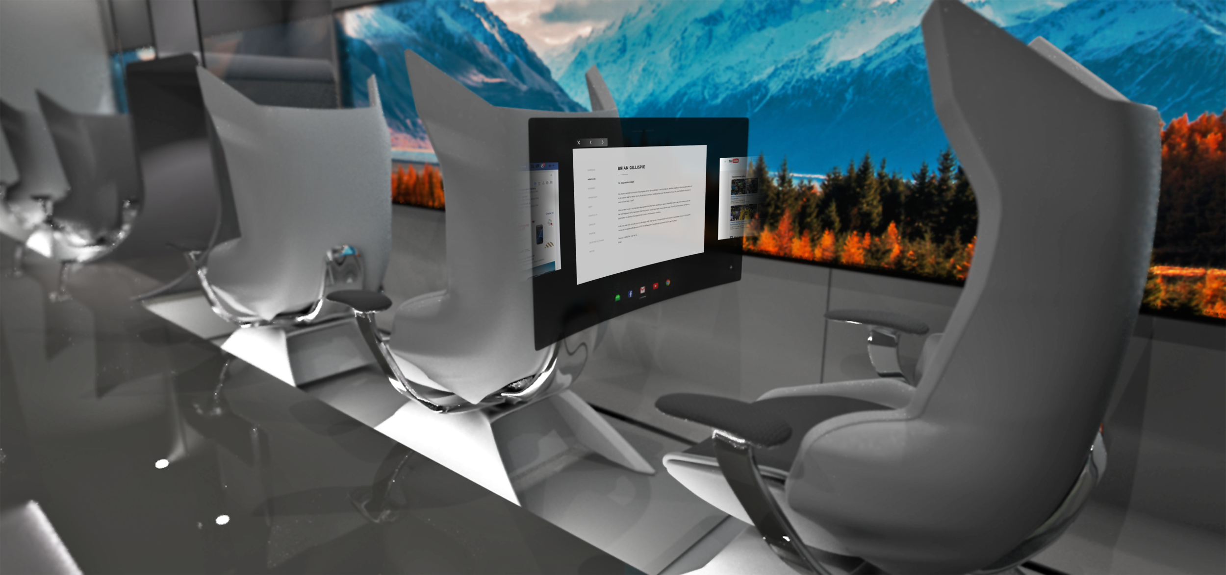 This design encourages an immersive user flow, without preventing people from interacting with those around them.