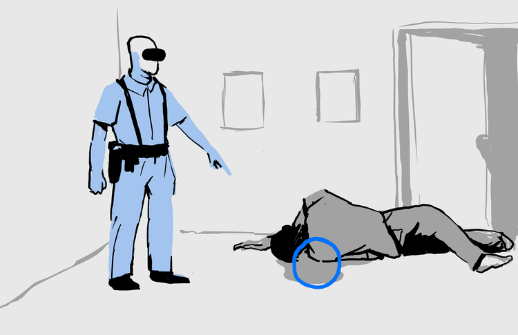 Detectives can virtually annotate the space with relevant information, without physically interfering with evidence.