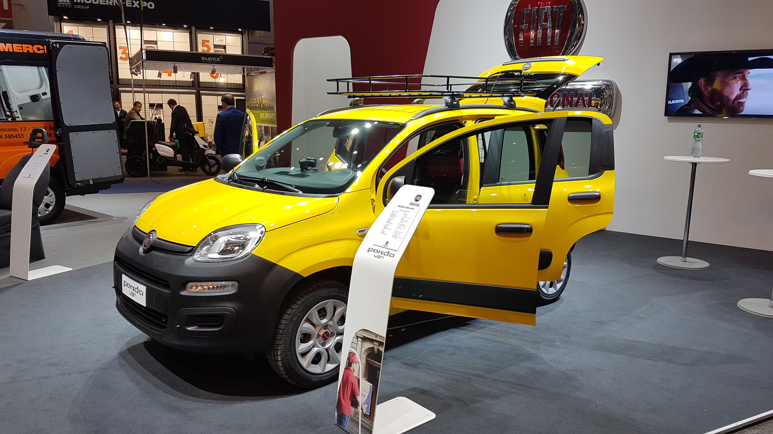Panda van from Fiat. If they ever release an electric version, then those cars would be Electric Pandas.