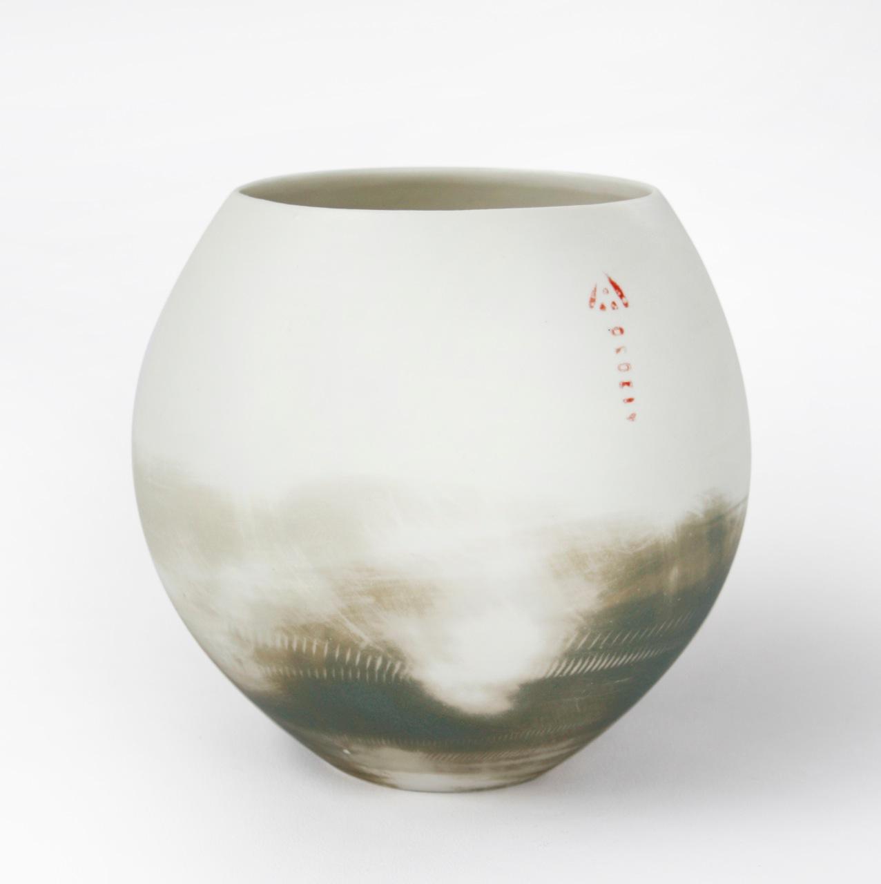 Round vase two smudged olives.jpg