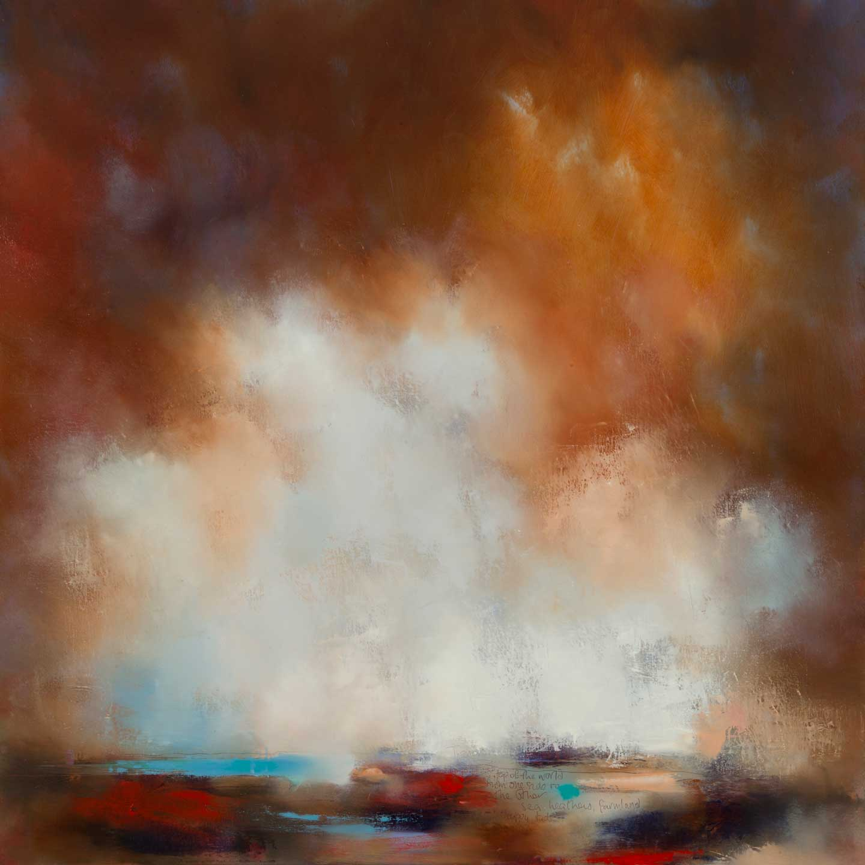 Laura Rich, Cornish Clouds, Sea, Heathers, Farmland, oil on linen, 100 x 100cms, web.jpg
