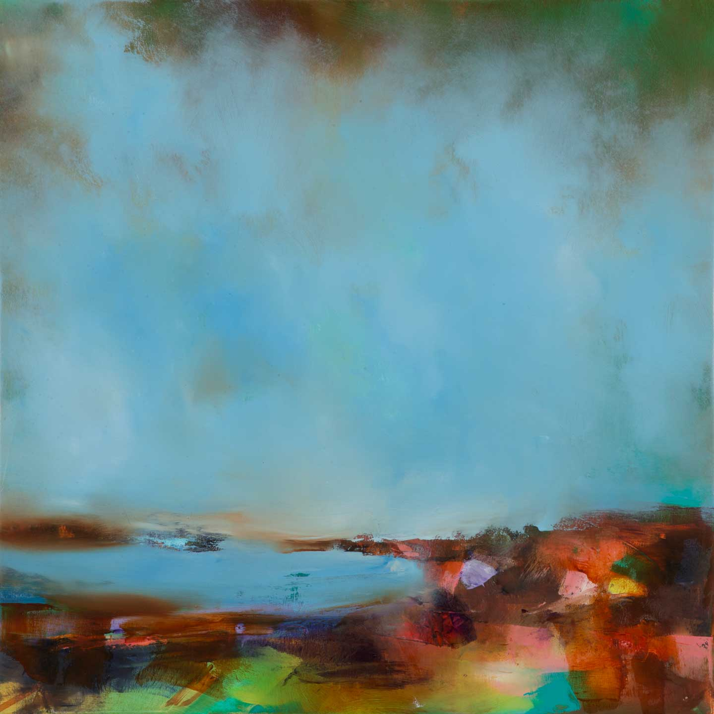 Laura Rich, Over to St Ives from Trencrom, oil o canvas, 70 x 70cms, web.jpg