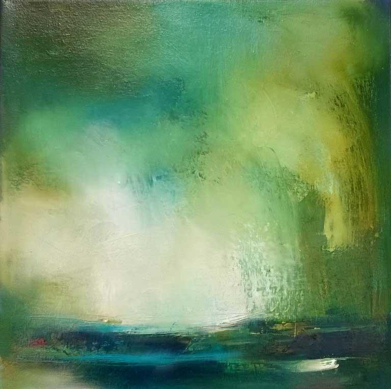 Laura-Rich,-orange-buoy,-calm-sea,-oil-on-canvas,-40-x-40cms.jpg